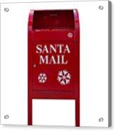 Santa Red Mail Box Acrylic Print