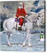 Santa Rides To Town Acrylic Print