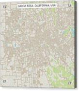 Santa Rosa California Us City Street Map Acrylic Print