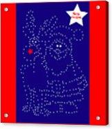 Santa Rudolph Stars Blue 2 Acrylic Print