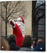 Santa Says Hello Acrylic Print