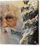 Santa Sees You Acrylic Print