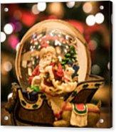 Santa Snow Globe Acrylic Print
