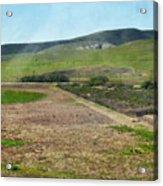 Santa Ynez Mountains Green Hills Ranch Acrylic Print