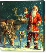 Santas And Elves Acrylic Print