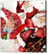 Santas Acrylic Print by Dana Patterson