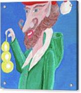 Santa's Ornament Painter Elf Acrylic Print