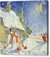 Santa's Visit Acrylic Print