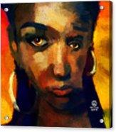 Santia In Orange 726 Acrylic Print