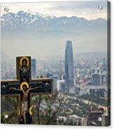 Santiago Chile Panoramic Acrylic Print