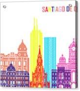 Santiago De Cali Skyline Pop Acrylic Print