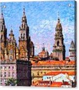 Santiago De Compostela, Cathedral, Spain Acrylic Print