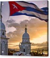 Santiago De Cuba Dusk Acrylic Print