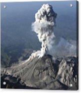 Santiaguito Ash Eruption, Guatemala Acrylic Print by Martin Rietze