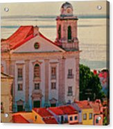 Santo Estevao Church Acrylic Print