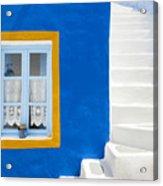 Santorini Blue Acrylic Print