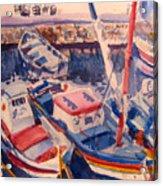 Santorini Boats Study Acrylic Print