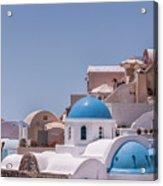 Santorini Church In Oia Acrylic Print
