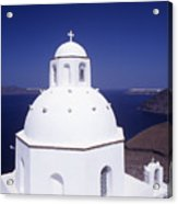 Santorini Church Acrylic Print