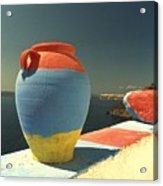Santorini Color Acrylic Print