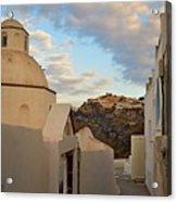 Santorini Dome Church Acrylic Print
