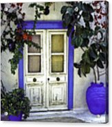 Santorini Doorway 1 Acrylic Print