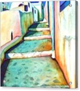 Santorini Steps Acrylic Print