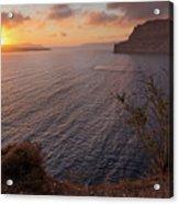 Santorini Sunset Caldera Acrylic Print