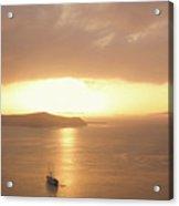 Santorini, Sunset Acrylic Print