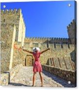 Sao Jorge Castle Tourist Acrylic Print