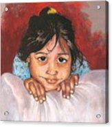 Saoni Acrylic Print by Yxia Olivares