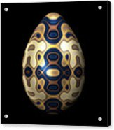 Sapphire And Gold Imperial Easter Egg Acrylic Print