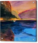 Sapphire Blue Water Acrylic Print