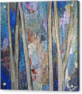 Sapphire Forest I Acrylic Print