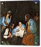 Saraceni Carlo The Birth Of Christ Acrylic Print