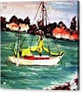 Sarasota Bay Sailboat Acrylic Print
