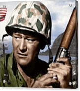 Sargent Stryker U S M C  Iwo Jima Acrylic Print