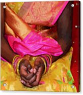 Sari Ceremony Acrylic Print