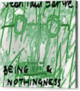 Sartre Poster Jp  Acrylic Print