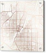 Saskatoon Street Map Colorful Copper Modern Minimalist Acrylic Print