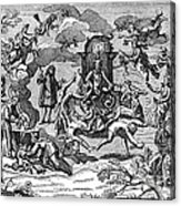 Satan With Cavorting Dancers, 18th Acrylic Print