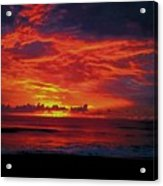 Satellite Beach Sunrise Acrylic Print