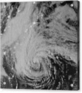 Satellite View Of Hurricane Sandy Acrylic Print