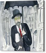 Satie Walking In The Rain Acrylic Print