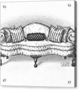 Satin Chippendale English Sofa Acrylic Print