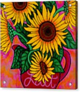 Saturday Morning Sunflowers Acrylic Print