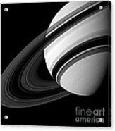 Saturn And Tethys Acrylic Print