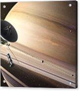 Saturn Flyby Acrylic Print