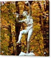 Satyr In Luxembourg Garden Paris France Acrylic Print