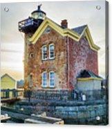 Saugerties Lighthouse Acrylic Print by Nancy De Flon